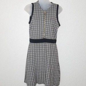 ZARA Knit Sleeveless Dress Geometric Print Medium